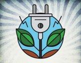 Desenho Energia renovável pintado por Craudia
