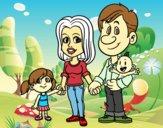 Desenho Família feliz pintado por AndressaBR