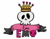 Desenho Love Emo pintado por ThaySilvaa