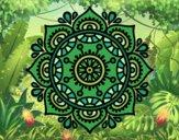 Desenho Mandala para relaxar pintado por ThaySilvaa