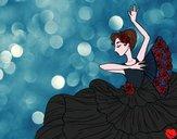 Desenho Mulher flamenco pintado por away