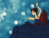 Desenho Mulher flamenco pintado por Keithy