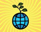 Desenho mundo ecológico pintado por Craudia