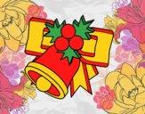 Desenho Sino de Natal com bolas pintado por Craudia