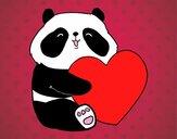 Desenho Amor Panda pintado por Keithy