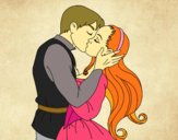 Desenho Beijo de amor pintado por Keithy