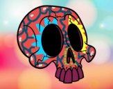 Desenho Crânio pintado por Bianca99