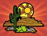 Desenho Deserto do Colorado pintado por ThaySilvaa