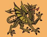 Desenho Dragão agressivo pintado por Craudia