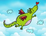 Dragão com um coração