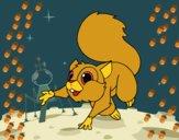 Esquilo saltando