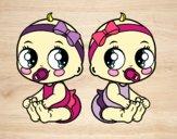 Desenho Gêmeos fêmea pintado por ThaySilvaa