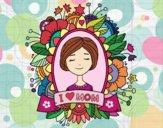 Desenho Homenagem a todas as mães pintado por Natani
