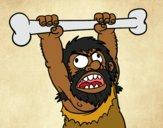 Desenho Homo sapiens aborrecido pintado por ThaySilvaa