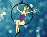 Desenho Mulher trapezista pintado por Keithy