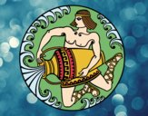 Desenho Oráculo grego pintado por ThaySilvaa