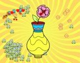 Papoula com vaso