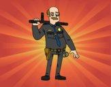 Desenho Policial veterano pintado por NdPraFazer