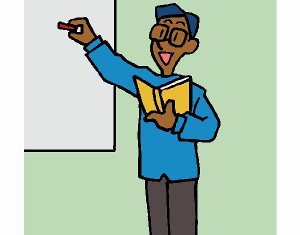 Professor no quadro-negro