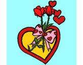 Desenho Ramo de flores 3 pintado por Craudia