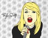 Desenho Taylor Swift cantando pintado por Keithy