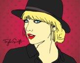Desenho Taylor Swift com chapéu pintado por Keithy