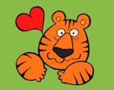 Desenho Tigre louco de amor pintado por Craudia