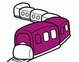 Desenho Trem a caminho pintado por fjcima