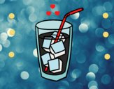 Un copo de refrigerante