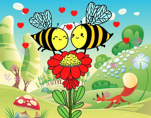 Algumas abelhas