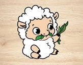 Desenho Bebê ovelha pintado por Keithy