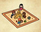 Desenho Caixa de areia pintado por Craudia