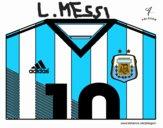 Camisa da copa do mundo de futebol 2014 da Argentina