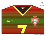 Camisa da copa do mundo de futebol 2014 de Portugal