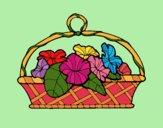 Desenho Cesta de flores 5 pintado por Craudia