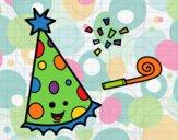 Desenho Chapéu de festa pintado por Craudia