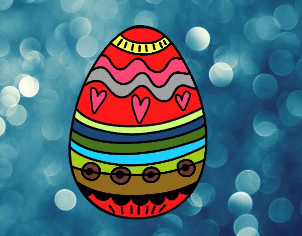 Decoração de ovos de Páscoa