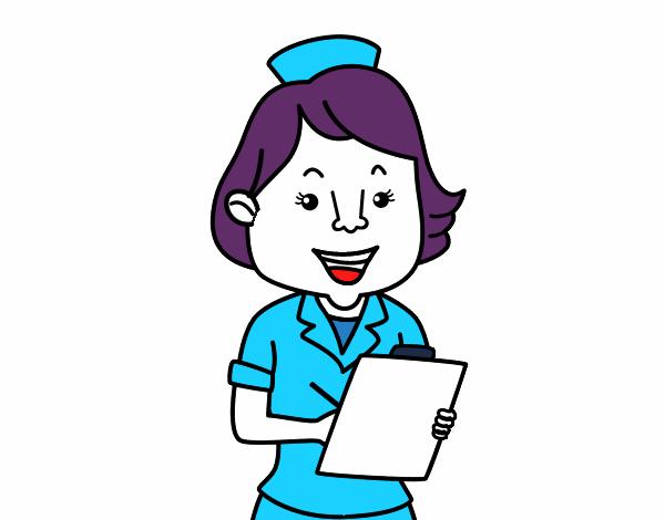 Enfermeira a sorrir