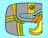Desenho Escrita maia pintado por mcastrode