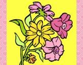 Desenho Flores pintado por nicknice