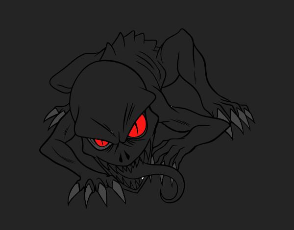 Desenho De Terror Pintado E Colorido Por Usuário Não