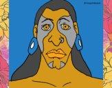 Desenho Homem maia pintado por mcastrode