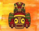Desenho Máscara mexicana dos rituais  pintado por Craudia