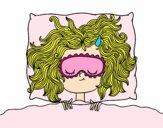 Desenho Menina de sono pintado por DudaMatos