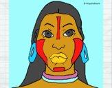 Desenho Mulher maia pintado por mcastrode