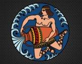 Desenho Oráculo grego pintado por Craudia