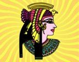 Desenho Perfil Cleopatra pintado por mcastrode