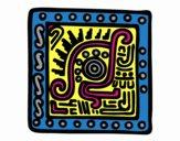 Desenho Símbolo Maia pintado por mcastrode