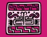 Desenho Sobrescrito maia pintado por mcastrode