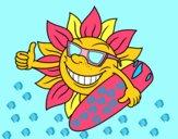 Desenho Sol Surfer pintado por mcastrode